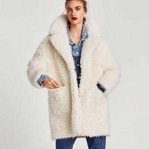 Zara Soft Faux Fur Coat